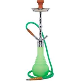 Kaya PN 630 Neon Green im Koffer Grün Shisha Wasserpfeife (Chrom) - 1